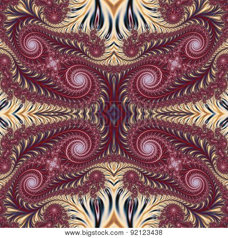 Beautiful Background With Spiral Pattern. Collection - Oriental Tales. Artwork For Design,