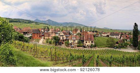 France, Alsatian Landscape. Panorama