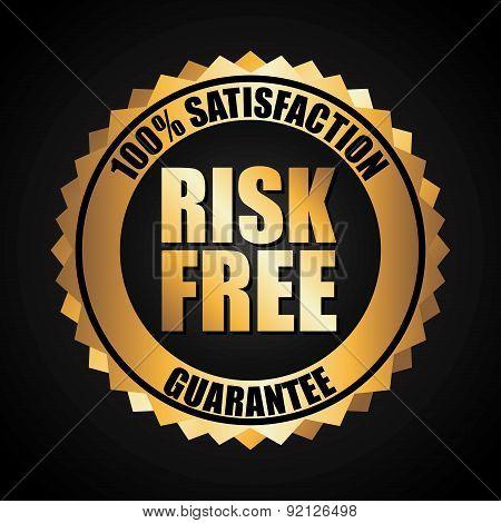 risk free over black background vector illustration