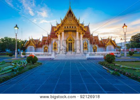 Beautiful Thai Temple Wat Benjamaborphit or Marble temple