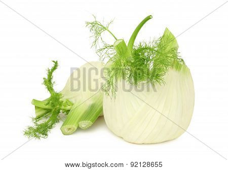 Ripe Fennels On White Background