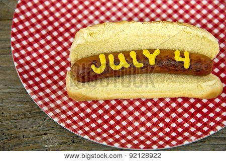 4th of July hot dog