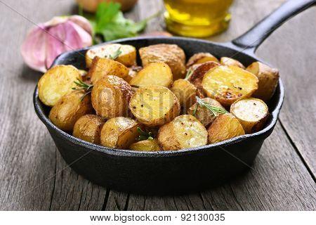 Baked Potato In Frying Pan