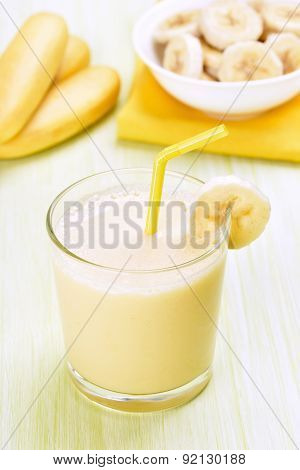 Smoothie Banana In Glass