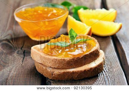 Bread And Orange Jam