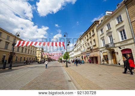 Krakowskie Przedmiescie Street, Warsaw, Poland