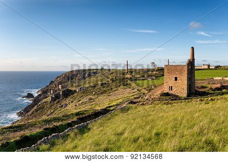 Mines At Botallack In Cornwall