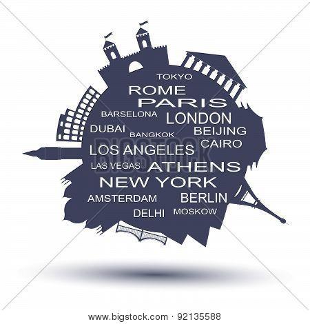 Travel agency logo. Vector illustration