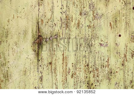 Old Weathered Paint On Wooden Surface