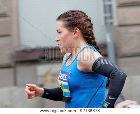Side View Of A Female Runner