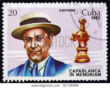 Postage Stamp Cuba 1982 Jose Raul Capablanca, Chess Player
