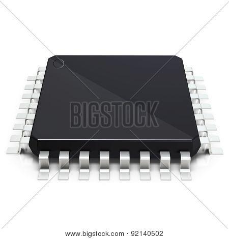3D Detailed Blank Microchip