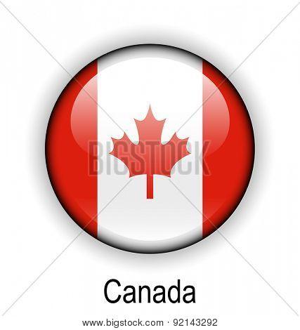 canada official flag, button ball