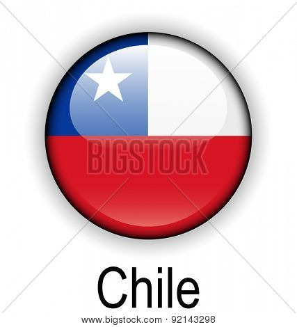 chile official flag, button ball