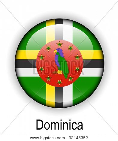 dominica official state button ball flag