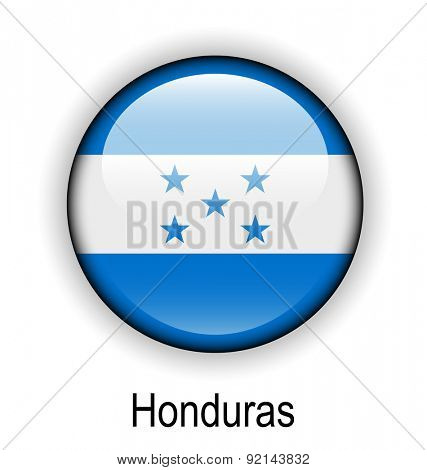 honduras official flag, button ball