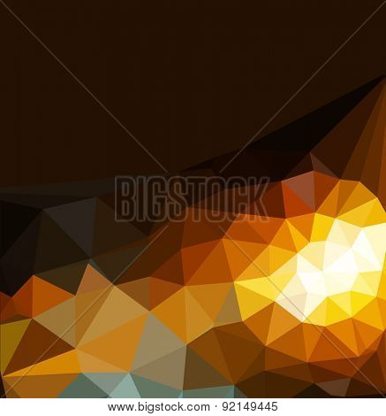 abstract background of triangles for business