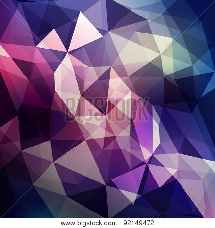 abstract background of triangles in purple and blue tones