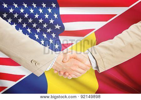 Businessmen Handshake - United States And Chad