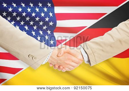 Businessmen Handshake - United States And Germany