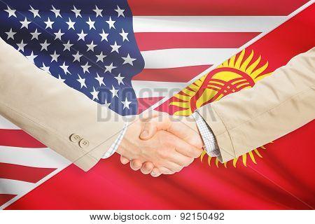 Businessmen Handshake - United States And Kyrgyzstan