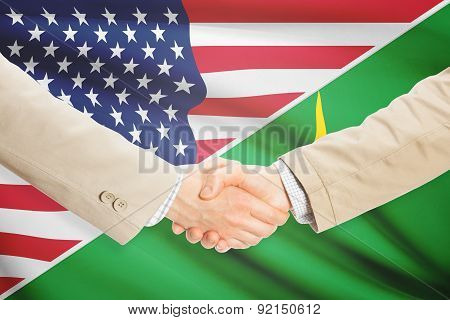 Businessmen Handshake - United States And Mauritania