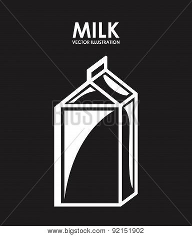 milk design over black background vector illustration