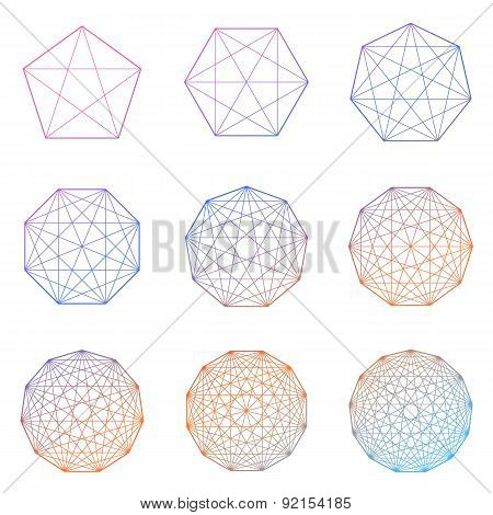 Set of geometric shapes. Vector