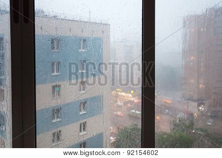 Rain Running Down Window Panes