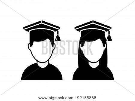 graduation design over white background vector illustration
