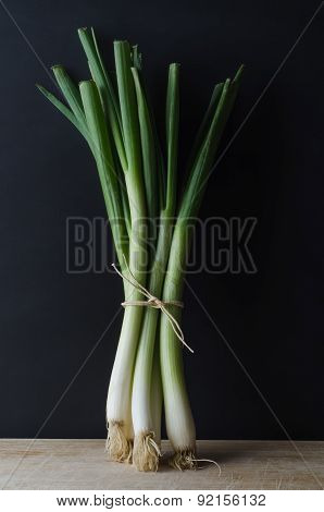 Tied Bunch Of Spring Onions