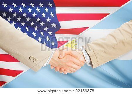 Businessmen Handshake - United States And Argentina