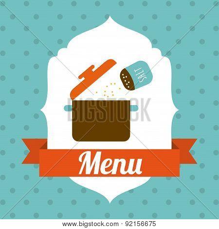 menu design over dotted   background vector illustration