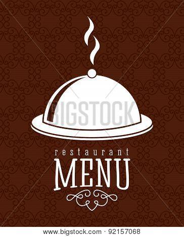 menu design over   brown background vector illustration