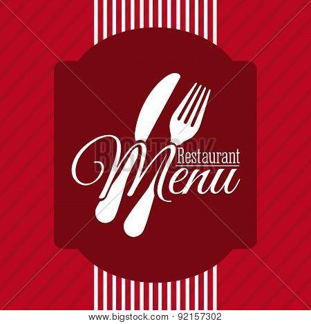 menu design over red   background vector illustration