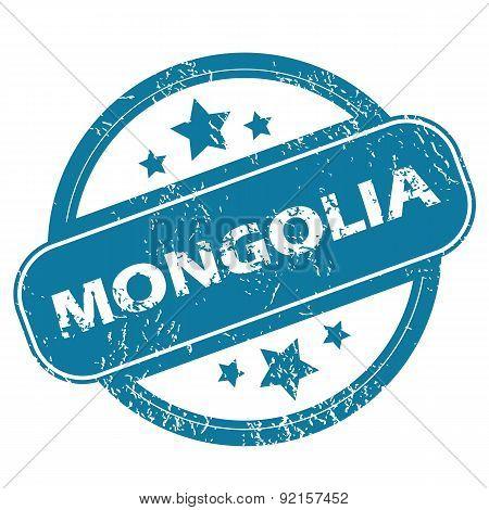 MONGOLIA round stamp