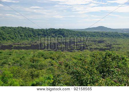 Lava flow in Nicaragua