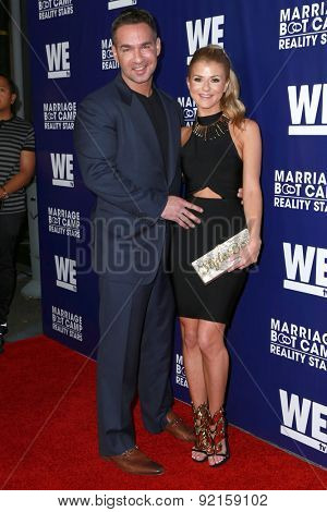 LOS ANGELES - MAY 28:  Mike Sorrentino, Lauren Pesce at the WE tv's