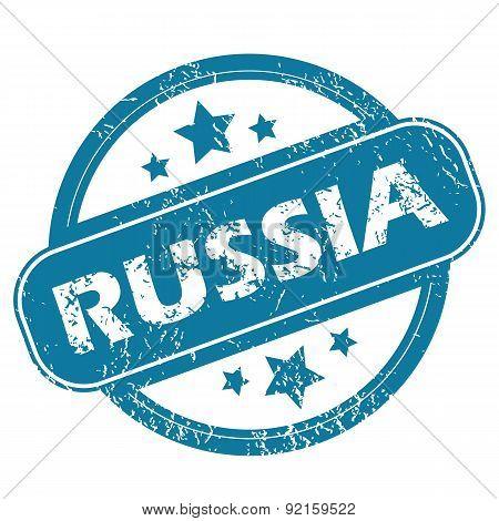 RUSSIA round stamp
