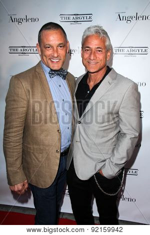 LOS ANGELES - MAY 31:  Johnny Chaillot, Greg Louganis at the Angeleno Magazine  June 2015 Issue Party with Cover Man Adrian Grenier at the The Argyle on May 31, 2015 in Los Angeles, CA