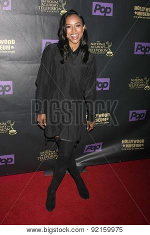 LOS ANGELES - FEB 21:  Karrueche Tran at the  2015 Daytime EMMY Awards Kick-off Party at the Hollywood Museum on April 21, 2015 in Hollywood, CA