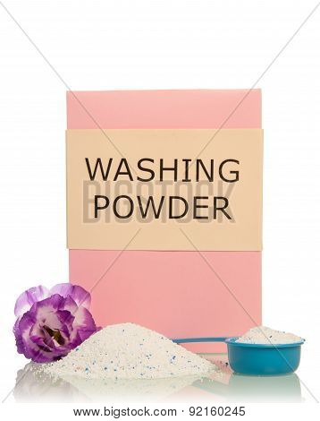 Washing powder with flower