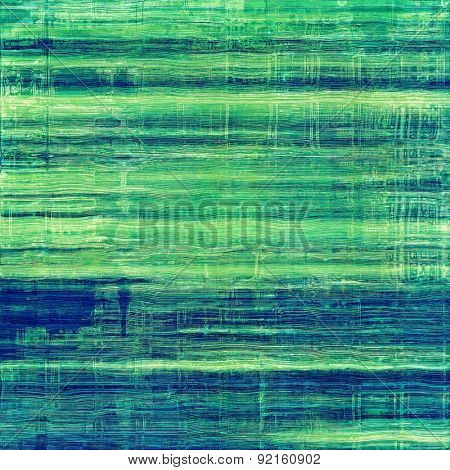 Vintage texture with space for text or image, grunge background. With different color patterns: green; blue; cyan