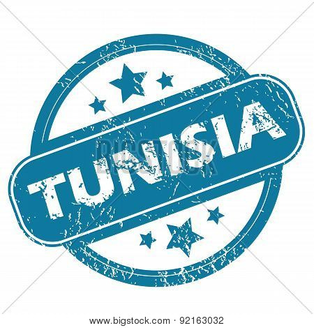 TUNISIA round stamp