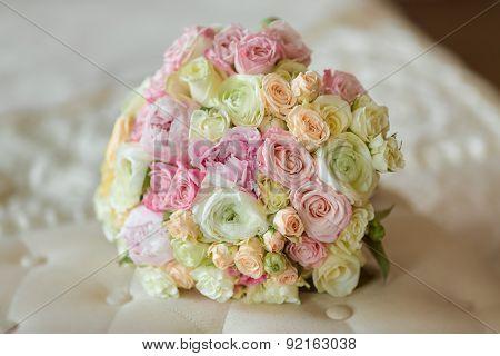 Bride's Bouquet on Sofa