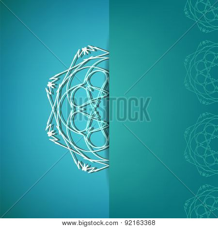 Ornamental Pattern Ion Azure Background