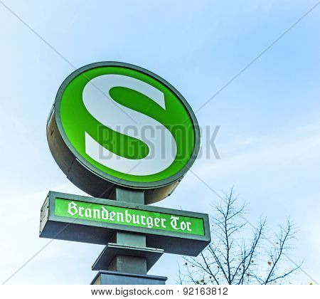 Old Vintage S-bahn Signs Brandenburger Tor