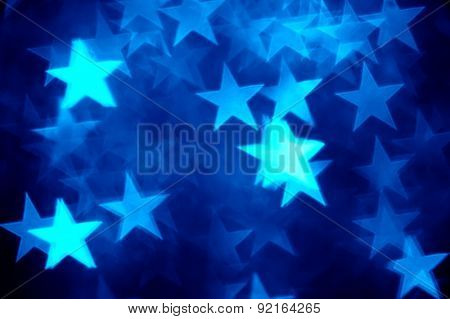 blue star shape holiday photo as background