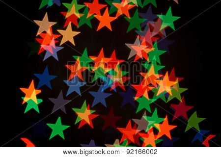 red star shape holiday photo as background