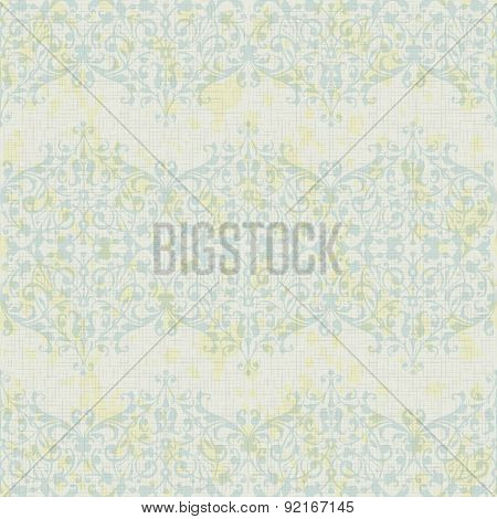 Vector turquoise floral seamless pattern